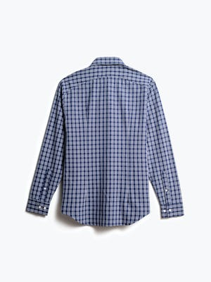 men's midnight multi plaid aero zero dress shirt back