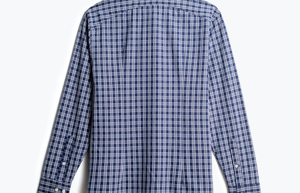 men's midnight multi plaid aero zero dress shirt back