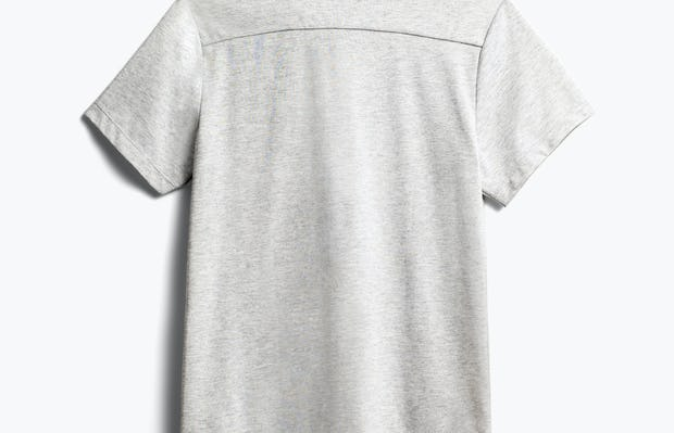 Mens Grey Heather Recycled Composite Merino Short Sleeve - Back View