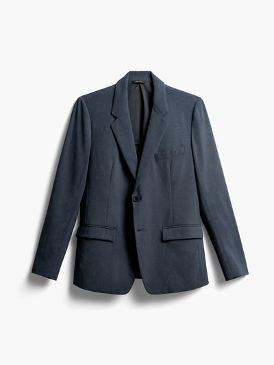 Men's Blue Houndstooth Velocity Blazer Front View