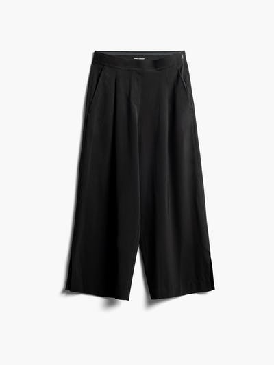 Women's Black Swift Wide Leg Pants Front View