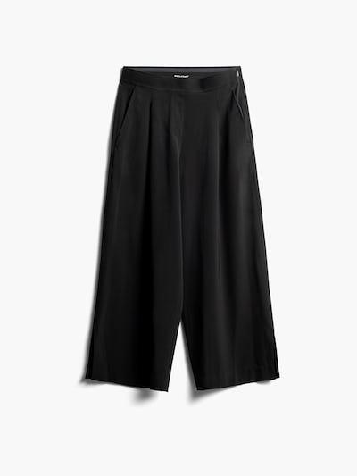 Women's Black Swift Wide Leg Pants Front View