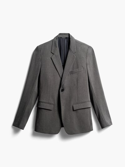 Mens Charcoal Velocity Blazer - Front View
