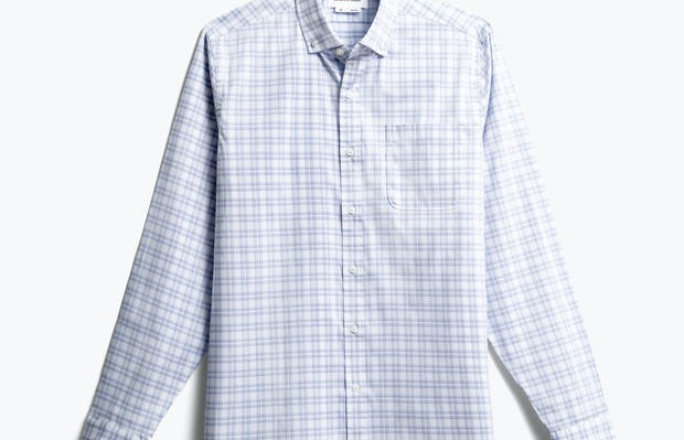 men's blue dot matrix aero button down front