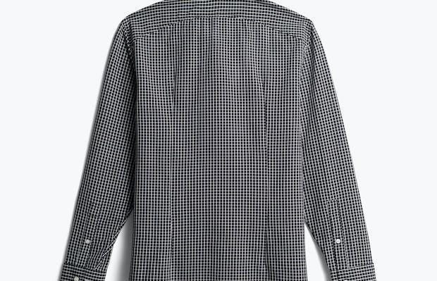men's black grid aero zero dress shirt back