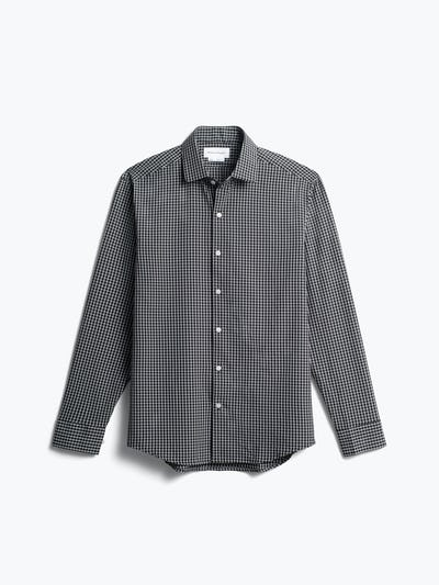 men's black grid aero zero dress shirt front