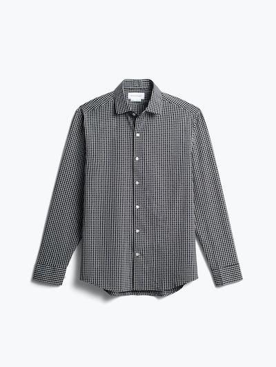 men's black grid aero zero dress shirt front