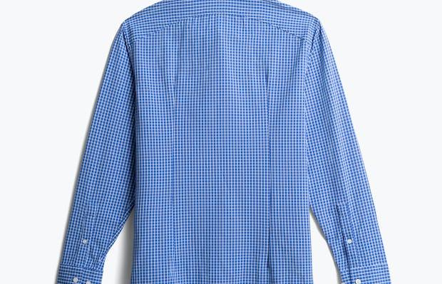 men's blue grid aero zero dress shirt back