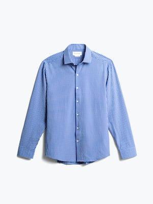 men's blue grid aero zero dress shirt front