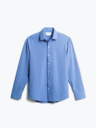 men's blue grid aero zero dress shirt front