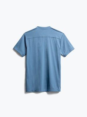 men's storm blue composite merino short sleeve henley back