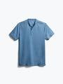 men's storm blue composite merino short sleeve henley front