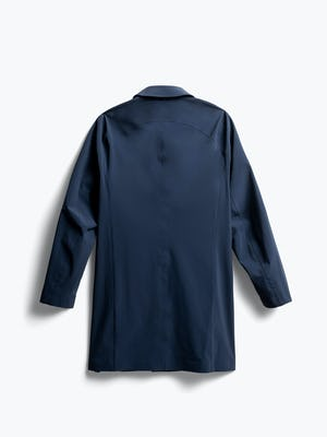 men's navy doppler mac raincoat back