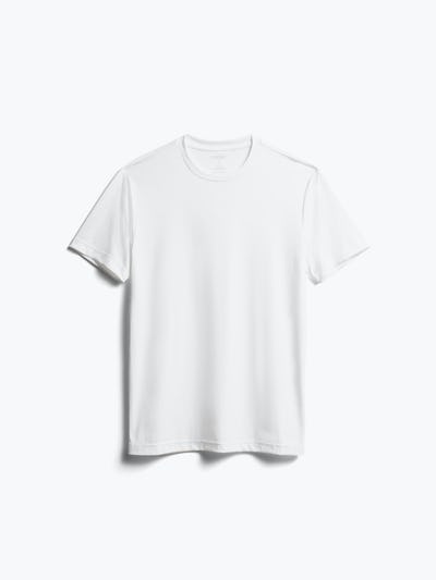 men's white responsive crew neck tee front