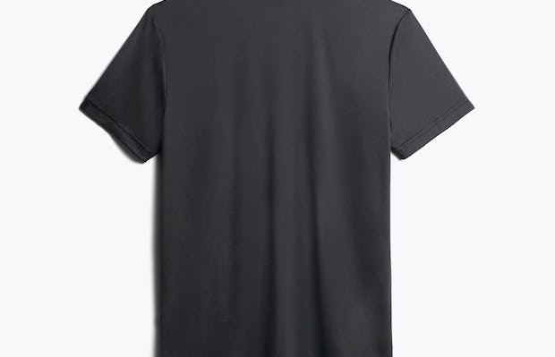 men's black responsive v-neck tee back