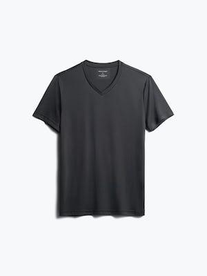 men's black responsive v-neck tee front