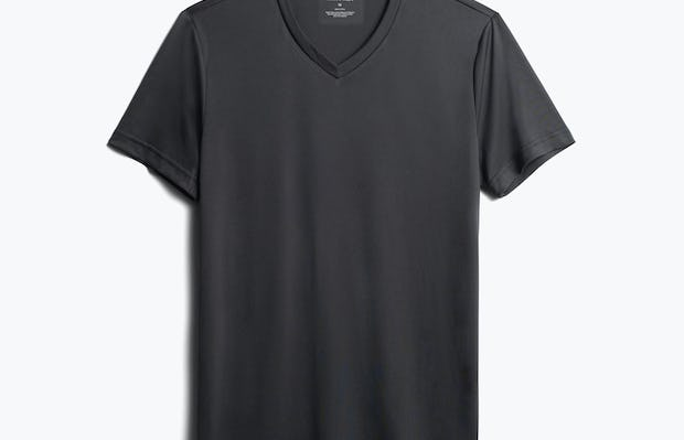 men's black responsive v-neck tee front
