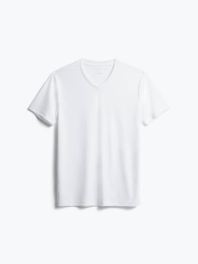 men's white responsive v-neck tee front