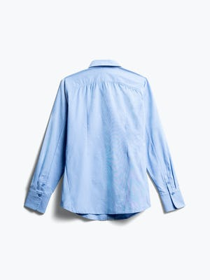 women's solid blue nylon aero dress shirt back