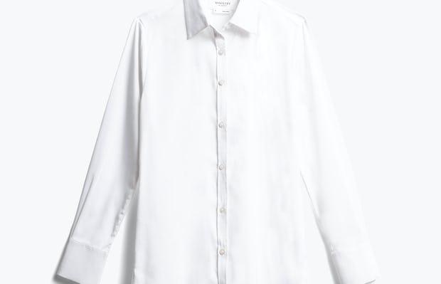 women's white aero tunic front