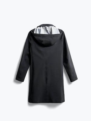 women's black doppler mac raincoat back