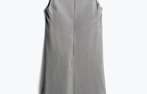 women's grey heather kinetic a-line dress back
