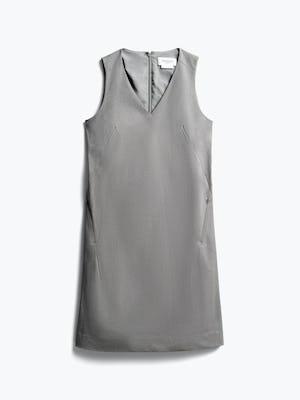 women's grey heather kinetic a-line dress front