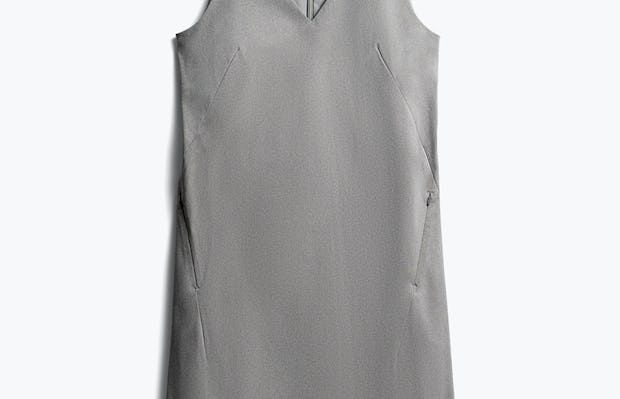 women's grey heather kinetic a-line dress front
