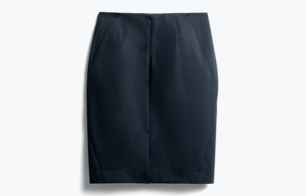 women's navy kinetic pencil skirt back