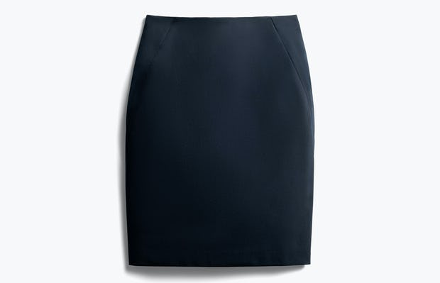 women's navy kinetic pencil skirt front