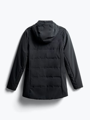 women's black mercury intelligent heated jacket back