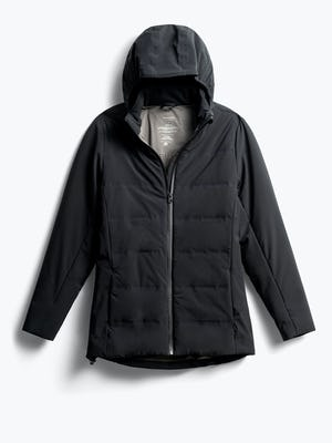women's black mercury intelligent heated jacket front