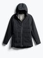women's black mercury intelligent heated jacket front