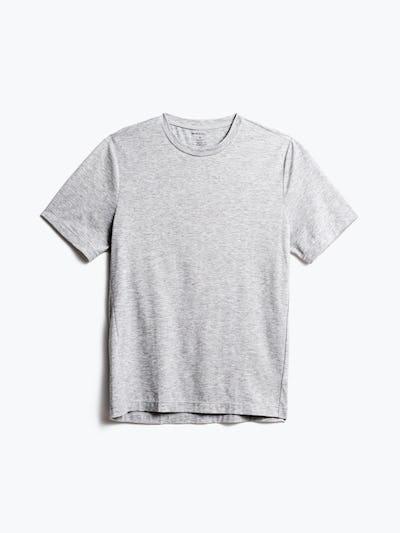 men's pale grey heather composite merino tee front