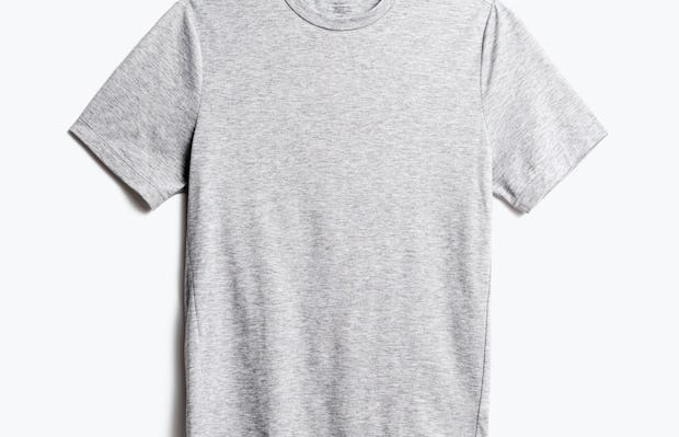 men's pale grey heather composite merino tee front