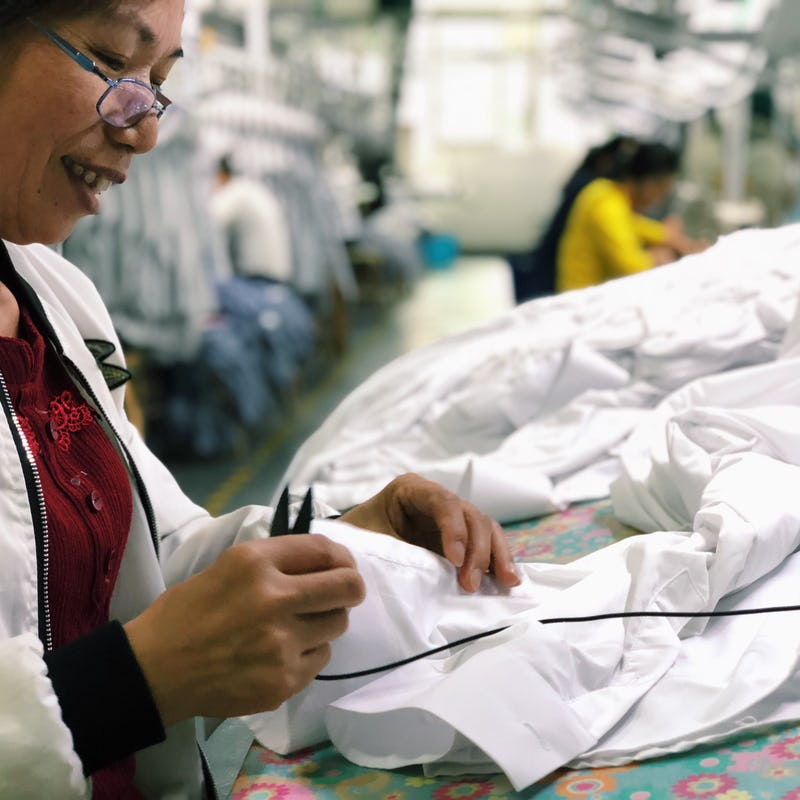 Person making clothes
