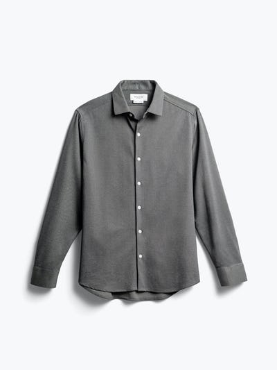 men's charcoal heather apollo dress shirt front