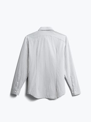 men's grey grid aero zero dress shirt back