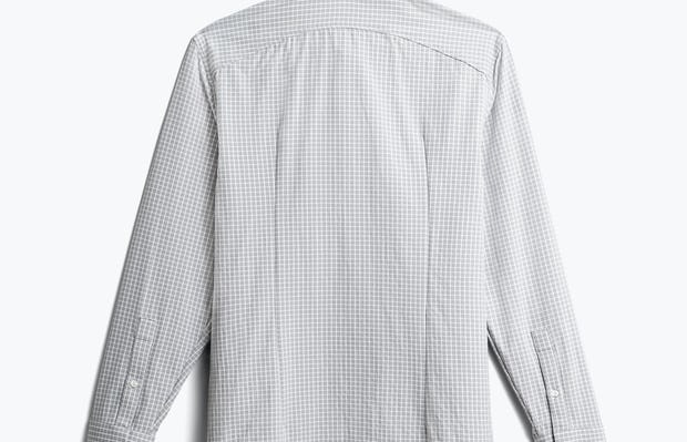 men's grey grid aero zero dress shirt back