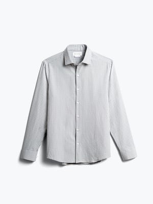 men's grey grid aero zero dress shirt front