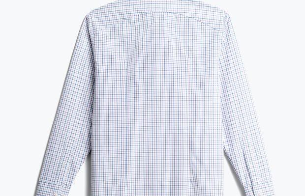men's lavender tattersall aero zero dress shirt back