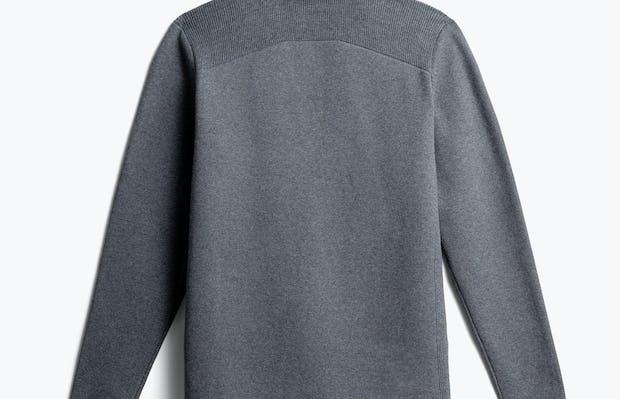 men's grey atlas knit blazer back