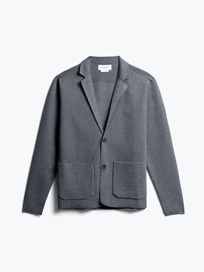 men's grey atlas knit blazer front