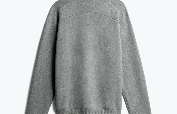 men's light grey atlas merino button collar back