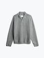 men's light grey atlas merino button collar front