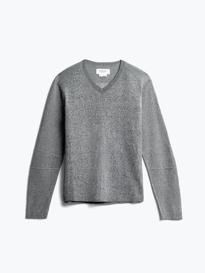 men's grey static atlas v-neck sweater front