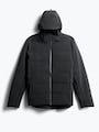 men's black mercury intelligent heated jacket front