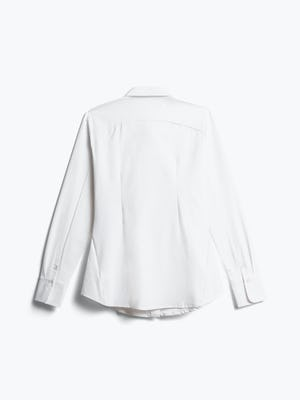 women's white aero zero dress shirt back