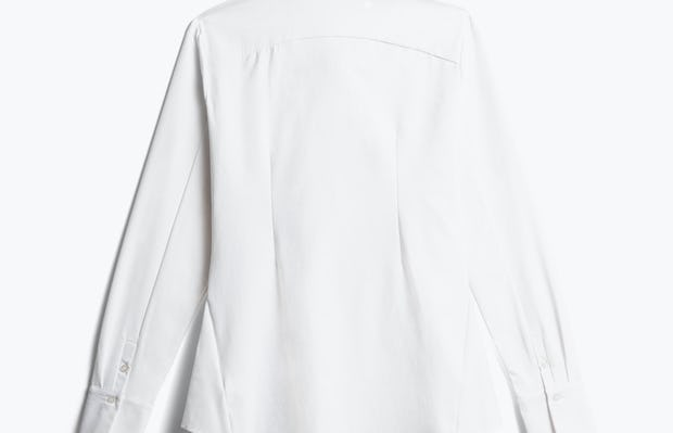 women's white aero zero dress shirt back