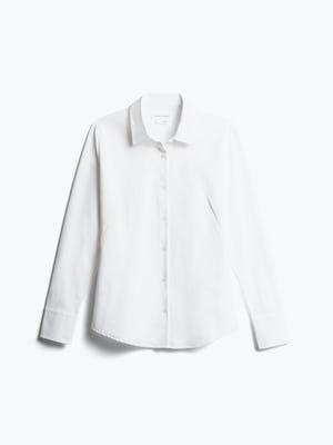 women's white aero zero dress shirt front
